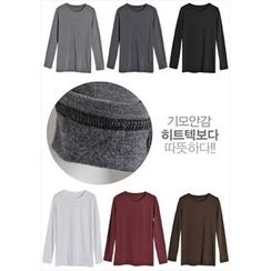 GOROKE - Round-Neck Brushed-Fleece Lined T-Shirt