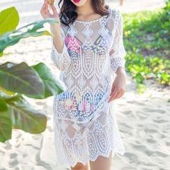 Sunset Hours - Knit Cover-up