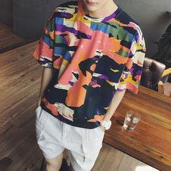 ZZP HOMME - Short-Sleeve Print T-Shirt