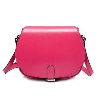 MBaoBao - Genuine Leather Buckled Cross Bag