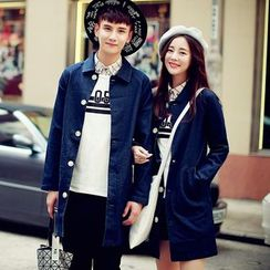 Bay Go Mall - Couple Matching Long Denim Jacket