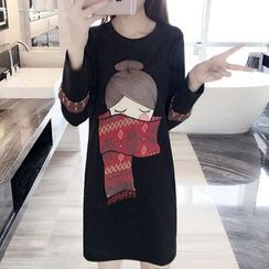 VIZZI - 长袖印花连衣裙
