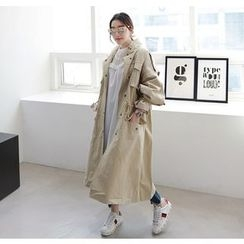 Miamasvin - Funnel-Neck Multi-Pocket Long Parka