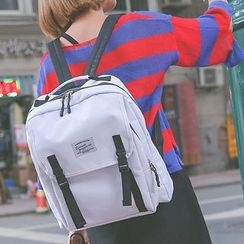 Youme - Plain Flap Backpack