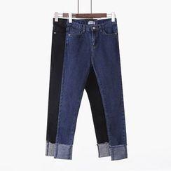 City of Dawn - Cuffed Slim-Fit Jeans