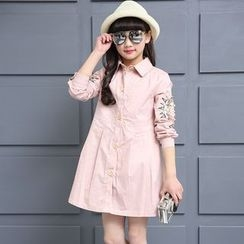 Pegasus - Kids Faux Pearl Shirtdress