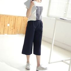 Loverac - Capri / Cropped Wide-Leg Pants