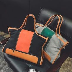 Nautilus Bags - Color Block Carryall with Shoulder Strap