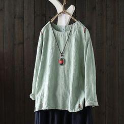 SASKIS - Long-Sleeve Plain T-Shirt
