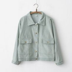 Onyu - Pocket-Accent Buttoned Jacket
