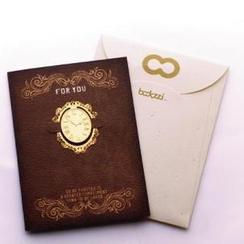 Full House - Set: Metal Bookmark + Greeting Card