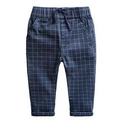 Kido - Kids Drawstring Check Pants