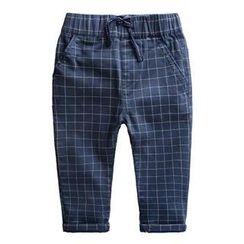 Kido - 小童抽繩格子褲