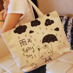 Bags 'n Sacks - Rabbit Print Canvas Tote