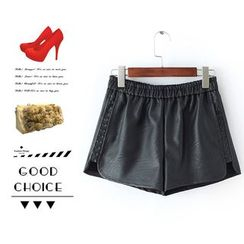 Ainvyi - Faux Leather Shorts