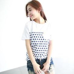 rico - Short-Sleeve Polka-Dot T-Shirt