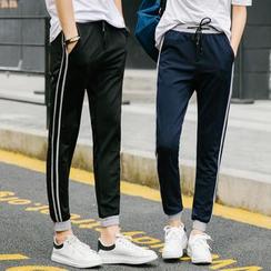 Evolu Fashion - Couple Matching Stripe Sweatpants