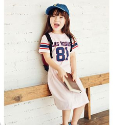Cuckoo - Kids Lettering Short Sleeve T-Shirt Dress