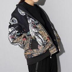 Ultra Modern - Astronaut Print Zip Jacket