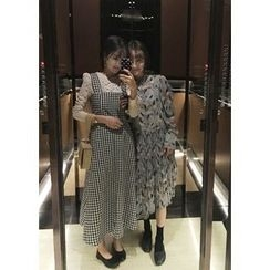 ssongbyssong - Gingham A-Line Long Dress