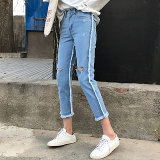 OCTALE - Ripped Slim Fit Jeans