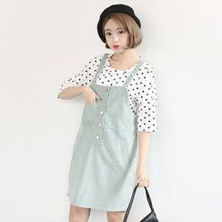 Sens Collection - Corduroy Pinafore Dress