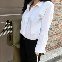 LIPHOP - Dip-Back Cotton Shirt