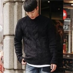 STYLEMAN - Cable-Knit Sweater