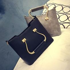 Diamante - Faux Leather Handbag
