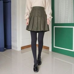 Seoul Fashion - Inset Inner Shorts Mini Pleated Skirt