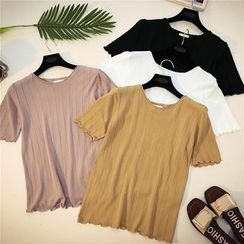Honey House - Short-Sleeve Knit T-Shirt