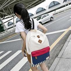 VIVA - Colour Block Canvas Backpack