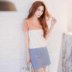 Tokyo Fashion - Color Block T-Shirt Dress