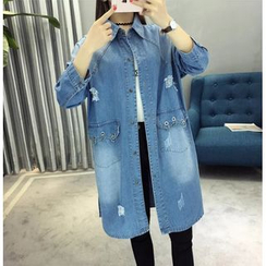 Angel Love - Denim Trench Jacket