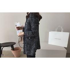DAILY LOOK - Faux-Pearl Detail Tweed Jacket