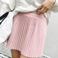 Glen Glam - Plain Pleated Skirt