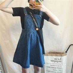 MATO - Denim Jumper Skirt