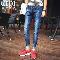 Croni - Washed Slim Fit Jeans