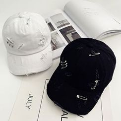 Pompabee - Ripped Safety Pin Baseball Cap