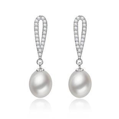 微微珍珠 - 淡水珍珠純銀耳墜