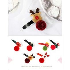 soo n soo - Pompom Christmas Hair Pin (6 Designs)
