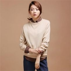 MAGJAY - Wool Blend Round-Neck Knit Top