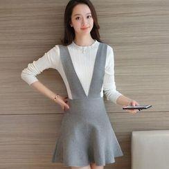 Her Story - 套裝: 上衣 + 背帶裙
