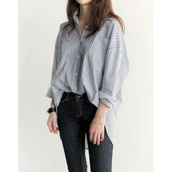 UPTOWNHOLIC - Cotton Striped Shirt
