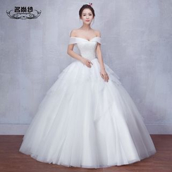 MSSBridal - Maternity Off-shoulder Wedding Dress