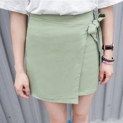 Porta - Wrap Front A-Line Skirt