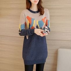 Ekim - Long Color Block Sweater