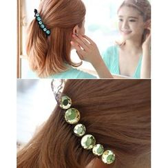 Miss21 Korea - Faux-Gem Hair Clamp