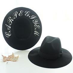 EVEN - Bow Woolen Fedora Hat