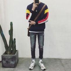 Besto - Color Block Sweatshirt